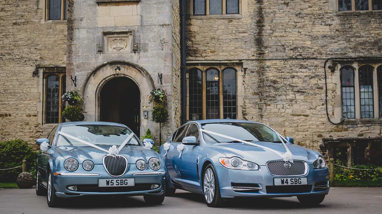Wedding Cars Gloucestershire Jaguars All Together at Wedding